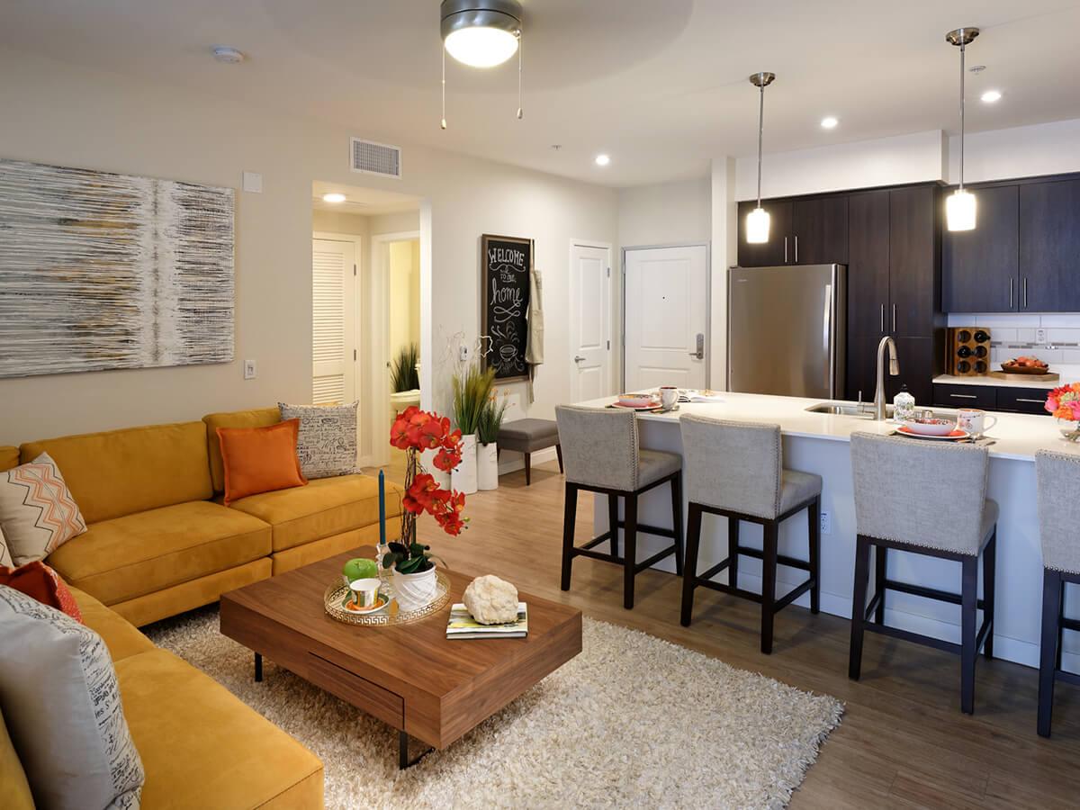 Living Kitchen Vistara Apartments In Ontario Gallery